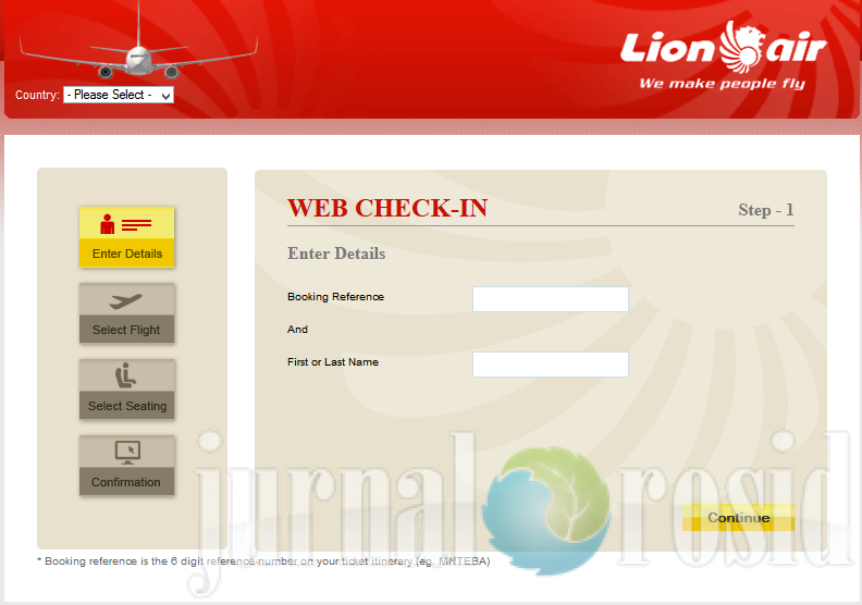 Web Check in Lion Air 1