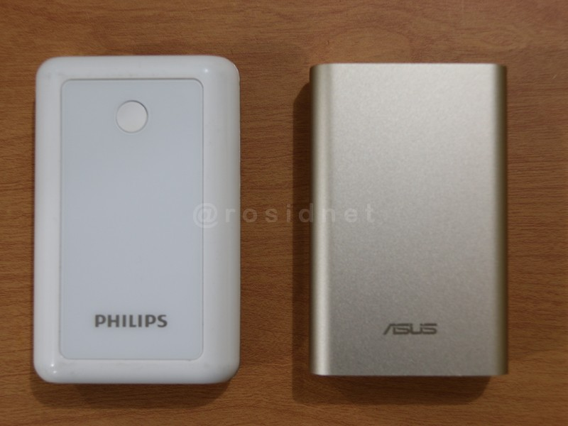 Perbandingan powerbank Philips dan ASUS ZenPower 10050mAH