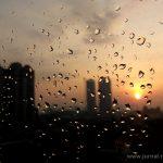 Embun pagi di jendela Alila Jakarta