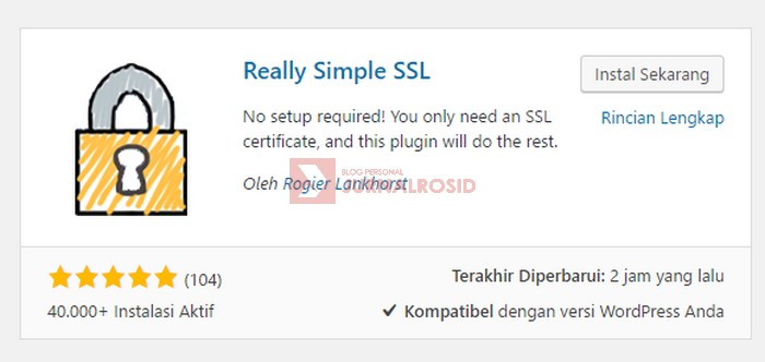 Plugin Really Simple SSL