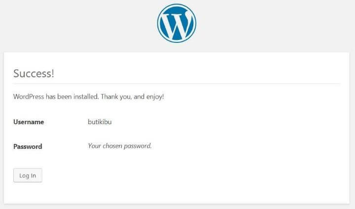 Install WordPress di Cleaver